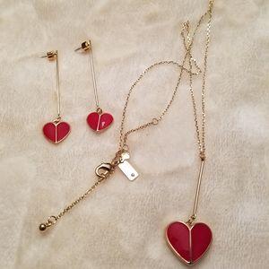 Kate♠️Spade ❤Red Hearts Set